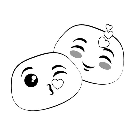 lovely emoji faces icon vector illustration design Illustration