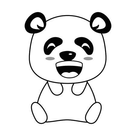 Lindo panda emoji kawaii vector ilustración diseño Foto de archivo - 91511275
