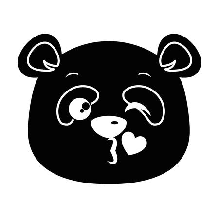 Lindo panda precioso emoji kawaii vector ilustración diseño Foto de archivo - 91511357