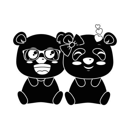 Cute pandas lovely emojis projeto de ilustração vetorial kawaii Foto de archivo - 91511394