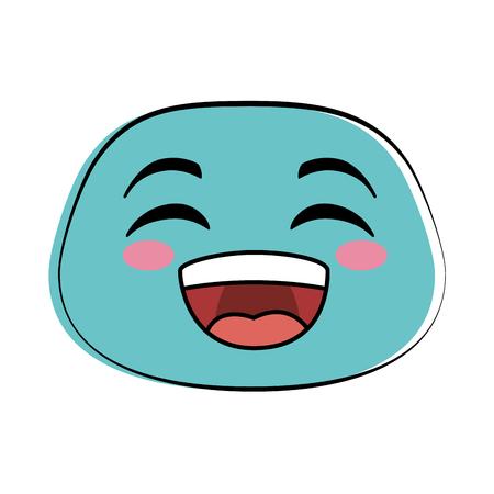laugh emoji face icon vector illustration design