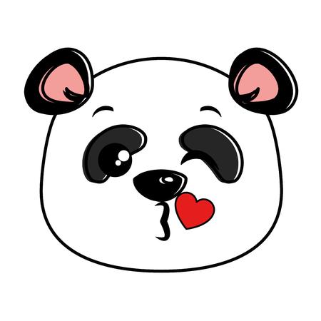 Panda bonito design de ilustração vetorial emoji kawaii adorável Foto de archivo - 91511405