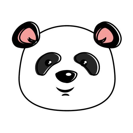 Projeto bonito da ilustração do vetor do kawaii da panda do emoji Foto de archivo - 91511408