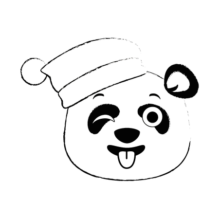 Lindo panda loco emoji kawaii vector ilustración diseño Foto de archivo - 91511556