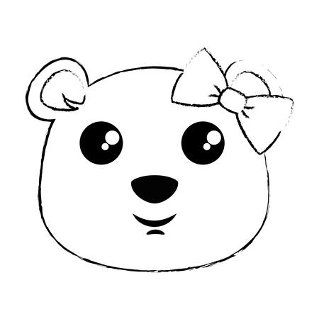 Projeto de ilustração de vetor de personagem fofo urso kawaii Foto de archivo - 91511571