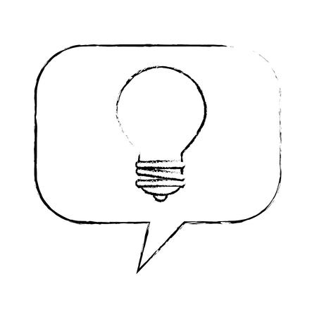speech bubbles with bulb vector illustration design