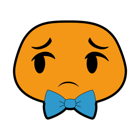 sad emoji face icon vector illustration design Illustration
