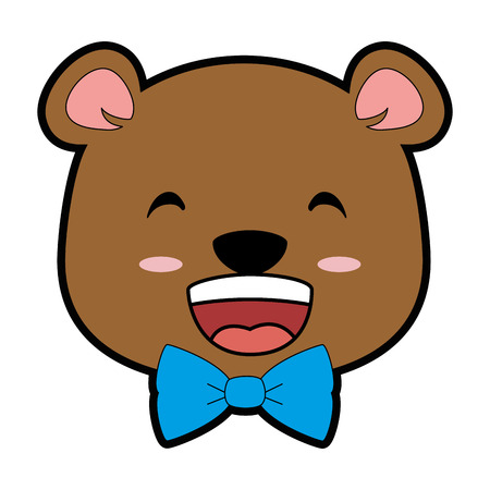 A cute bear kawaii character vector illustration design