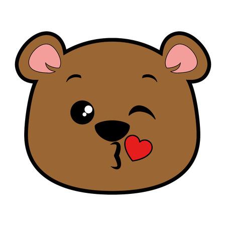 cute bear  character vector illustration design Illustration