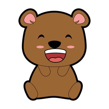 Projeto de ilustração de vetor de personagem bonito urso Foto de archivo - 91239628