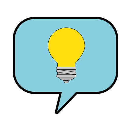 A speech bubbles with bulb vector illustration design