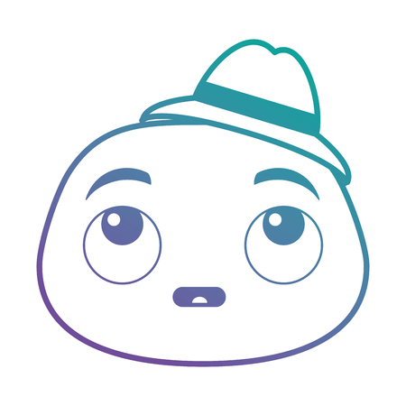 terrified emoji face icon vector illustration design Illustration
