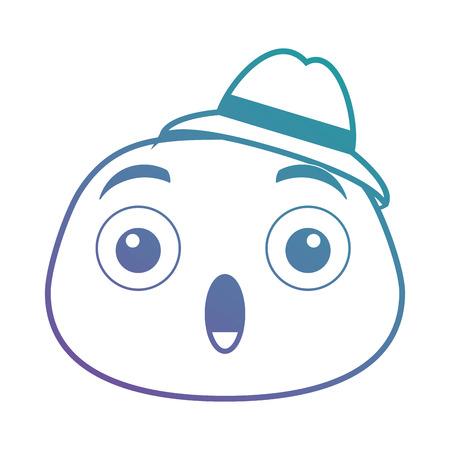 terrified emoji face icon vector illustration design Ilustração