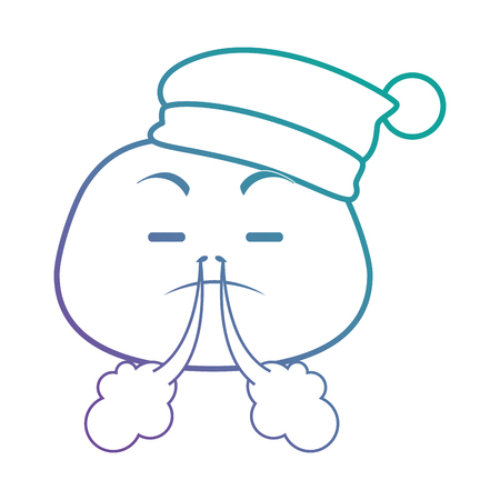 angry emoji face with sleeping hat vector illustration design Illustration
