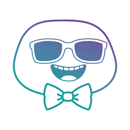happy emoji face with sunglasses vector illustration design Illustration