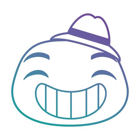 이모티콘 얼굴 아이콘 벡터 일러스트 디자인