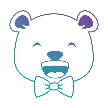 Projeto de ilustração de vetor de personagem fofo urso kawaii Foto de archivo - 91511774