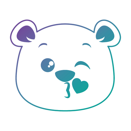 Diseño lindo del ejemplo del vector del emoji de la panda linda Foto de archivo - 91239720