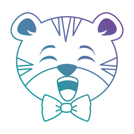 cute tiger kawaii character vector illustration design