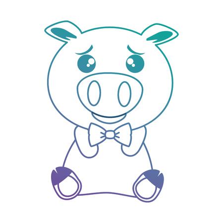 cute pig emoji  vector illustration design 向量圖像