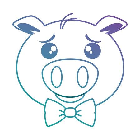 cute pig emoji kawaii vector illustration design