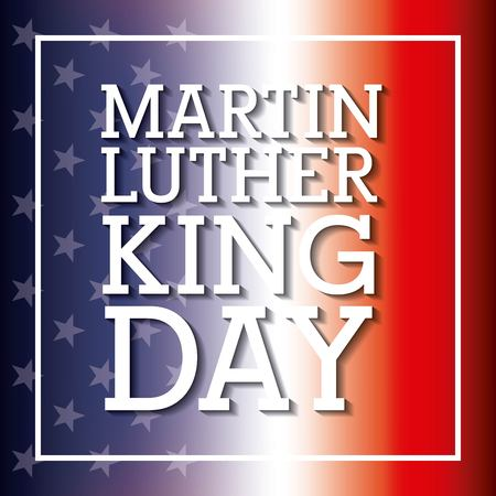 Martin luther king card flag with blur design.