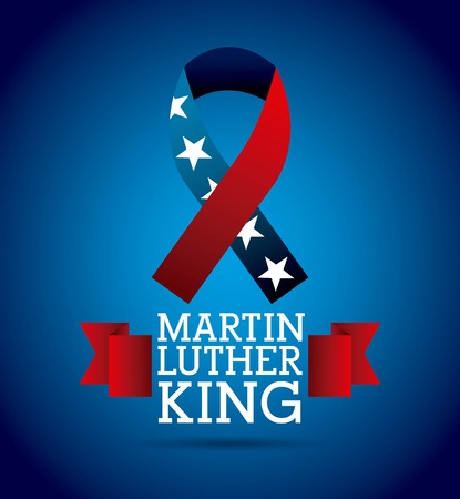 Martin luther king ribbon color flag american illustration. Illustration