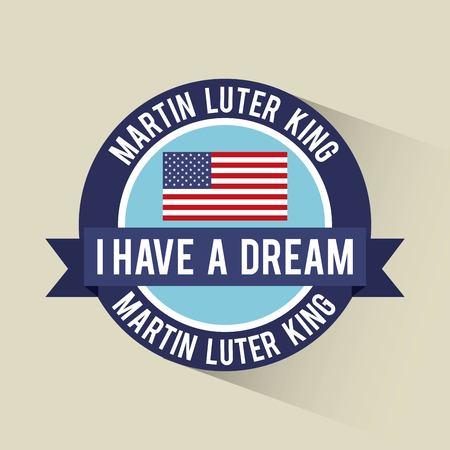 나는 미국 배너 벡터 일러스트 레이션을 꿈 배너 깃발을 가지고있다.