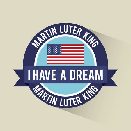 i have a dream banner flag american vector illustration