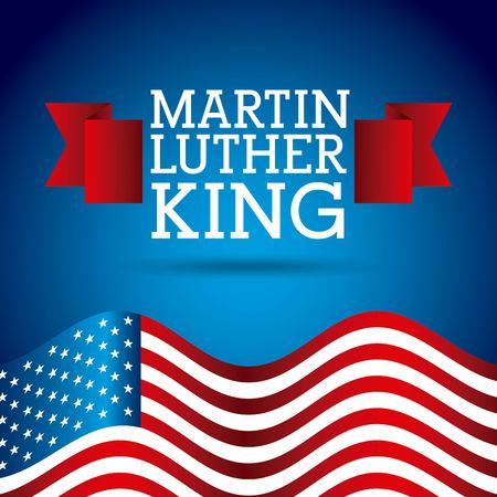 마틴 루터 킹 휴가 카드 개념 디자인.