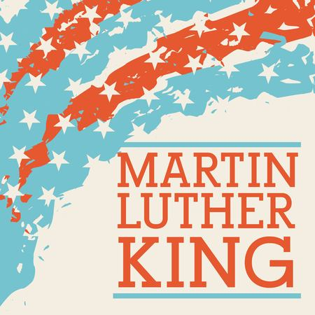 Martin luther king holiday card concept design. Vectores