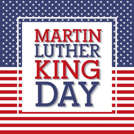 martin luther king day flag national frame decoration vector illustration