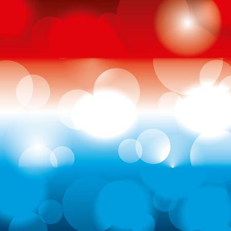 アメリカのテーマカラーは、光るパターンをぼかしました。