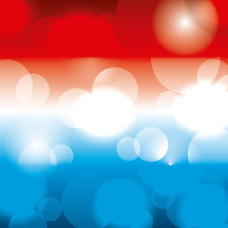 American theme colors blurred glowing pattern.