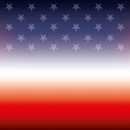 American flag stars in blur design.
