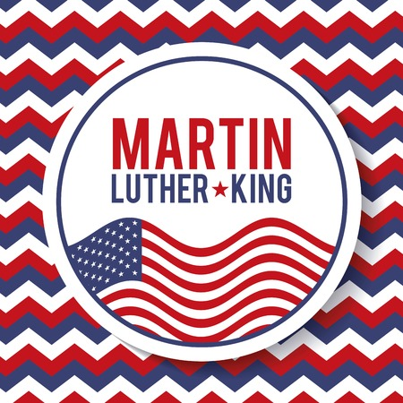 martin luther king badge national liberty symbol vector illustration