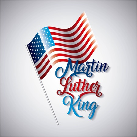 Martin luther king card with US flag design.