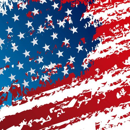 United states of america flag pattern design. 向量圖像