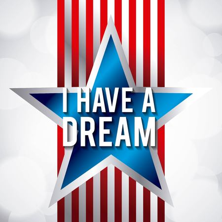 I have a dream blue star and red stripes design.