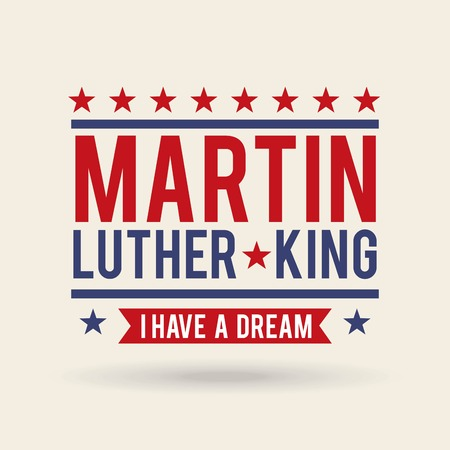 Martin luther king holiday card concept design. 向量圖像