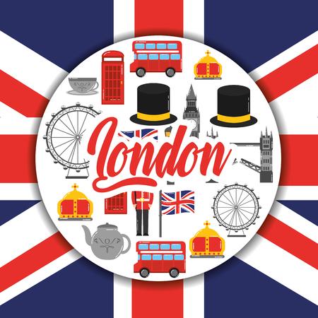 Londen Engeland toruism reizen landmark symbool vectorillustratie