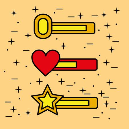 video game bars progress life treasure vector illustration Ilustração