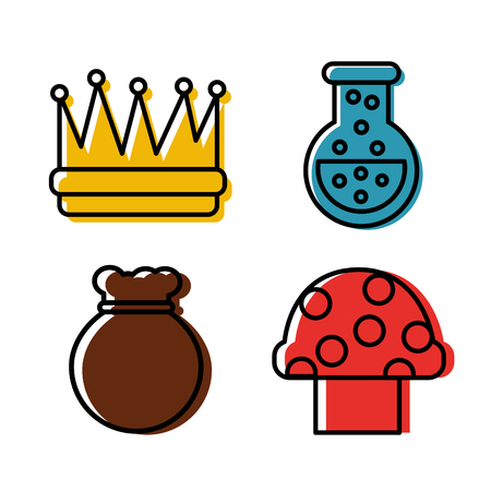 Video game icons set entertainment play vector illustration Illustration