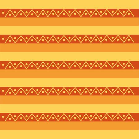 ネイティブ部族民族アンティーク文化レトロパターンベクトルイラスト  イラスト・ベクター素材