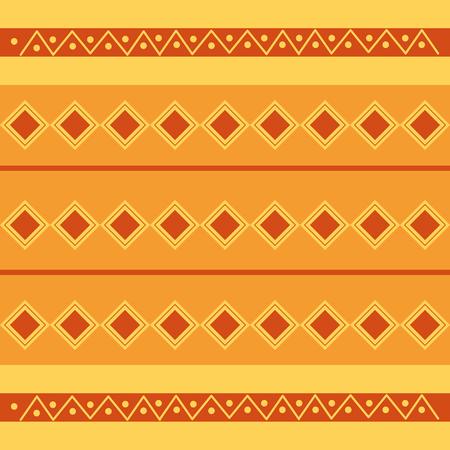 rhombus tribal ethnic wallpaper pattern design vector illustration