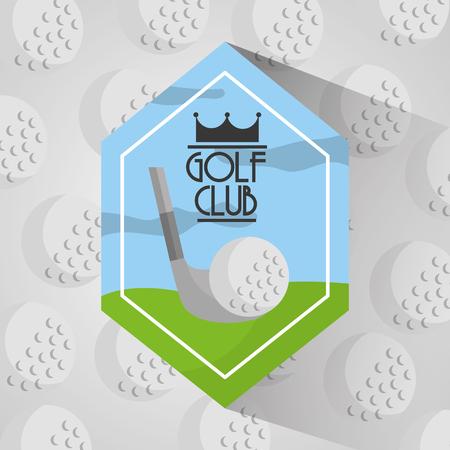 golf club sport ballen achtergrond vector illustratie Stock Illustratie