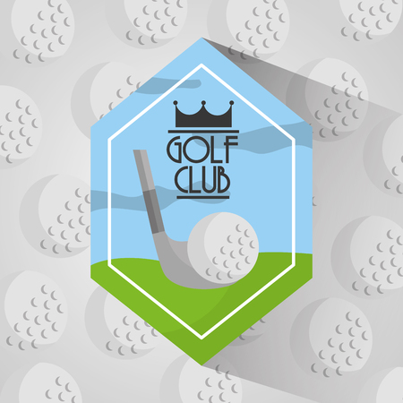 golf club sport balls background vector illustration