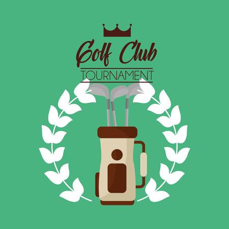 golfclubtoernooi tas met clubs apparatuur vectorillustratie