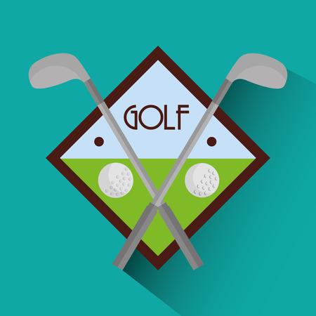 golfclubs kruis en ballen sport vector illustratie Stock Illustratie