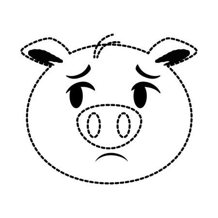 cute pig emoji  vector illustration design Ilustrace